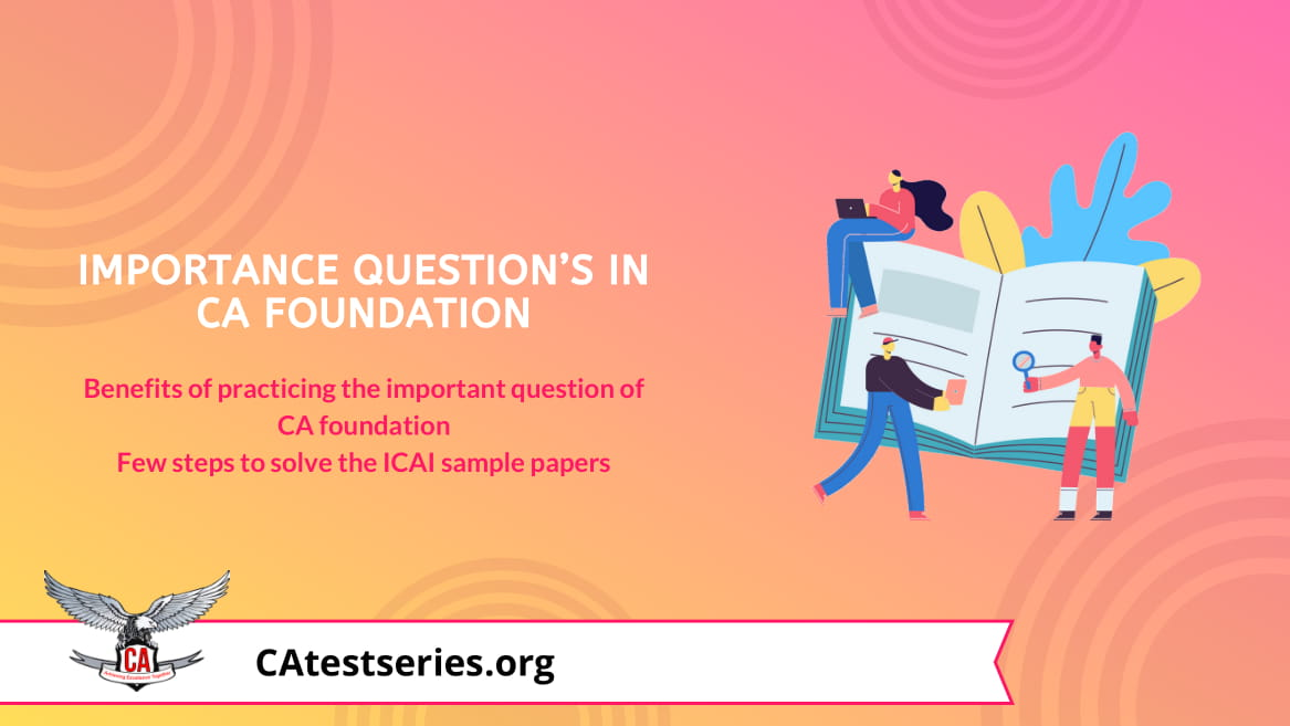 CA Foundation Important Questions for Nov 2020 ICAI Exams'